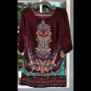 BeBop Abstract Printed Dress Size M